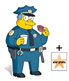 Fan Pack - Police Chief Wiggum Lifesize Cardboard Cutout / Standee (The Simpsons) - Includes 8x10 (20x25cm) Star Photo