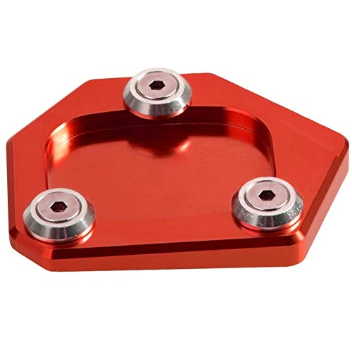 Frames & Fittings for Honda NC700X NC700S NC700D Integra CBR 500R CB 500F CB 500X Motorbike/Moro Kickstand Side Stand Plate Pad Enlarge Extension - (Color: Red)