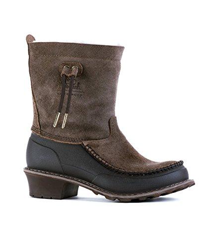 Woolrich Women's Fully Wooly Slip Waterproof Boots, JAVA (Brown), Size 8 by Woolrich