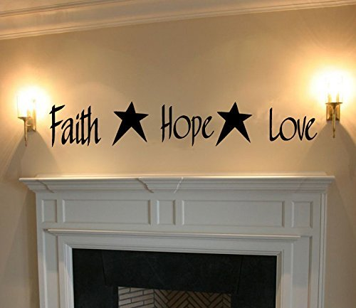 Faith Vinyl Words Sticker Graphic product image
