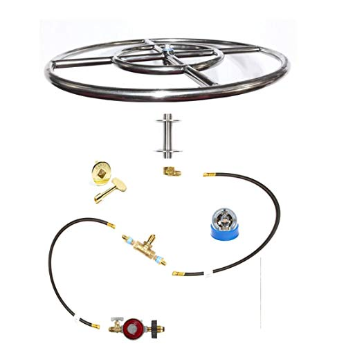 - FR18ITCK+ 18in Fire Ring In-Table DIY (Do It Yourself) Propane DELUXE Fire Pit Kits to Make Wine Barrel / Fire Table Fire Pit Kits Marine Grade 316 Stainless Burners (not lessor 304) (FR18)