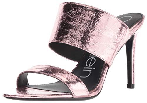 Calvin Klein Women's Rema Heeled Sandal, Rose Gold, 8 M US ()