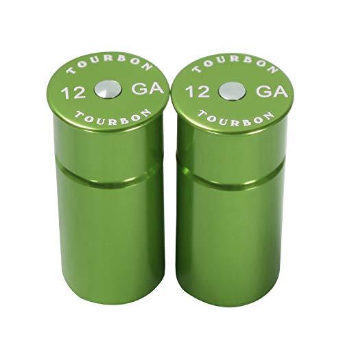 TOURBON Hunting Shooting Aluminum Shotgun 12 Gauge Snap Caps (Green)
