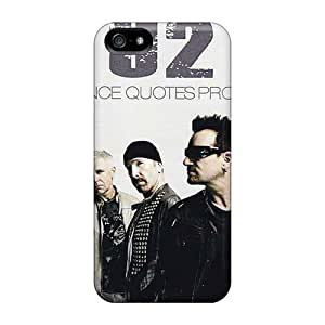 Shock Absorption Hard Phone Cover For Iphone 5/5s (zoJ2028BysW) Allow Personal Design Colorful U2 Skin