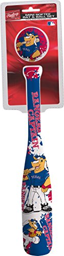 (MLB Texas Rangers Kids Mini Softee Bat & Ball Set, Small, Blue)