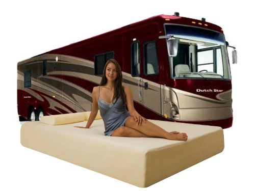 "DynastyMattress Deluxe 10-Inch Memory Foam Short Mattress for RV, Camper-Queen Size:(H) 10""x(W) 60""x(L) 75"""