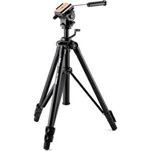 Velbon Videomate 538/F Aluminum Tripod with Fluid Pan and Tilt Head, 6.61lbs Load Capacity
