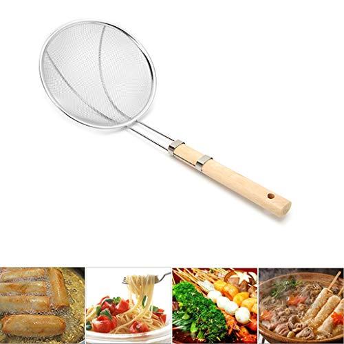 - HotelLee Mesh Food Strainer Stainless Steel Wood Handle (15.55 x 5.91in)
