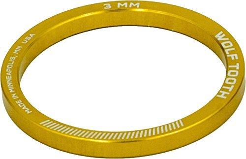 Wolf Tooth Componentsヘッドセットスペーサー5パック、3 mm、ゴールド [並行輸入品] B078S4H7GX