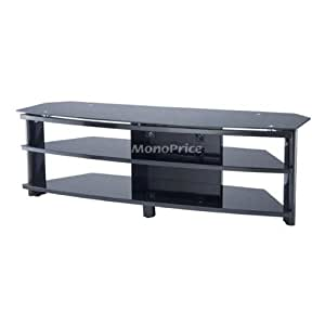 monoprice high quality tv stand for flat panel tvs up to 55 inches electronics. Black Bedroom Furniture Sets. Home Design Ideas
