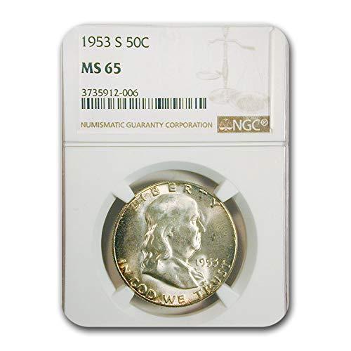 1953 S Franklin Half Dollar MS-65 NGC Half Dollar MS-65 NGC