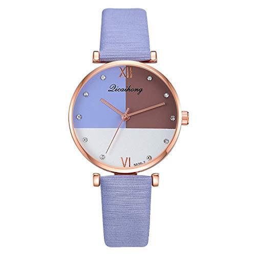 watch women sale Casual Fashion Simple Three Color Flat Dial Belt Quartz Female Watch ()