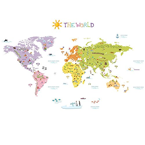 World map wall play set peel play learn 065917 map world peel map gumiabroncs Image collections