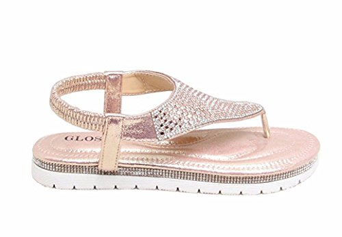Womens Sandals SheLikes Pink Diamante Summer Stylish dAwTCq