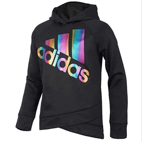 Price comparison product image adidas Youth Girls Tech Fleece Performance Hoodie (Medium 10 / 12,  Black)