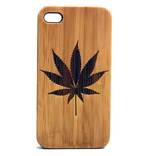 Marijuana Leaf iPhone 6 Plus or iPhone 6S Plus Case Eco-Friendly Bamboo Wood Cover. 420 Pot Weed MJ. Legalize It. Cannabis Smoke Get High.