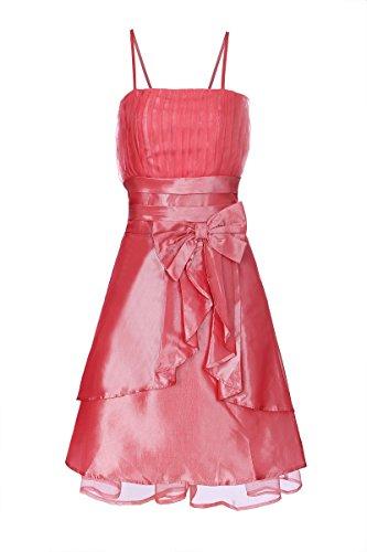 ROBLORA-Cocktail ceremonia vestido de noche vestido de dama de honor de la boda de bustier corto Baby002N rosa