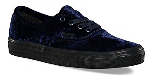 Vans Unisex Authentic Velvet Skate Shoes-Velvet Navy-8-Women/6.5-Men