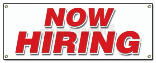 Now Hiring Banner Sign Apply Inside Hiring Signs