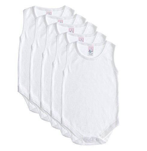 Baby Jay 5 Pack Sleeveless Onesie For Babies and Toddlers - Premium Soft Cotton Bodysuit For Boys and Girls