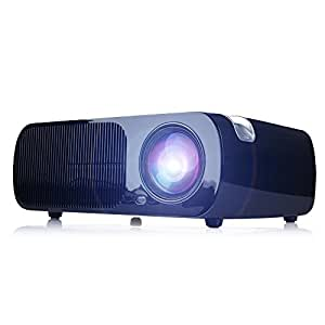 iRulu BL20 Video Projector, Home Cinema 5.0 Inch LCD TFT 1080P HD Display 800x480 Resolution (Black)