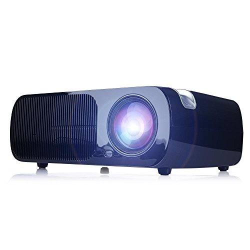 iRulu BL20 Video Projector, Home Cinema 5.0 Inch LCD TFT 1080P HD Display 800×480 Resolution (Black)