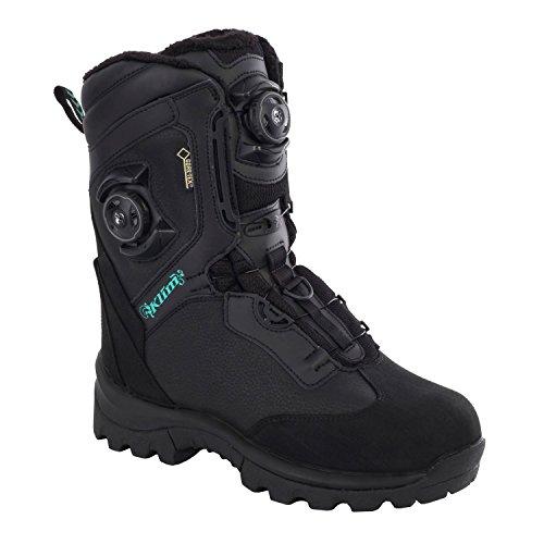 (Klim Aurora GTX Boa Women's Snocross Snowmobile Boots - Black/Size 7)