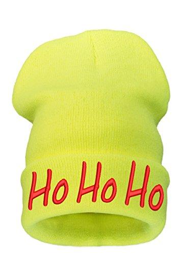 Ho Mens Yellow Christmas Beanie 4sold A Neo Merry Womens Bonnet g0X0Aq