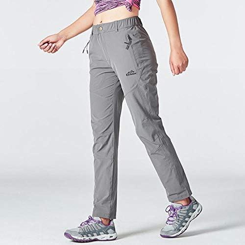 AJSJ Pantalones de Senderismo para Mujer Verano de ...