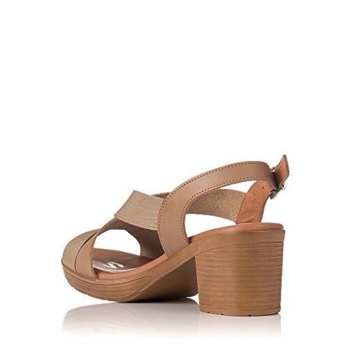 Sandalia Mujer Sandals Medio Oh Taupe My Tiras 3894 t7P6AOq
