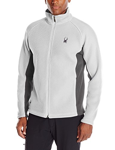 Spyder Men's Foremost Full Zip Heavy Weight Stryke Fleece, Cirrus/Polar,