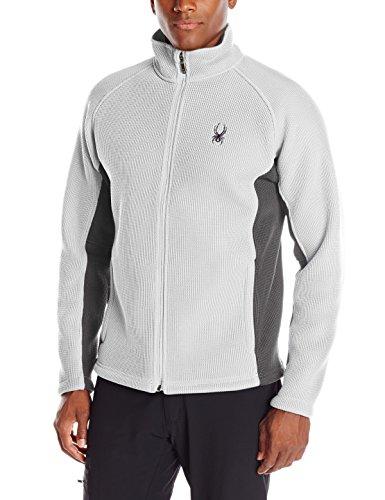 Spyder Men's Foremost Full Zip Heavy Weight Core Sweater, Cirrus/Polar, XX-Large