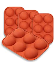 """homEdge Medium Semi Sphere Silicone Mold, 4 Packs Baking Mold for Making Hot Chocolate Bomb, Cake, Jelly, Dome Mousse - 2"""""""