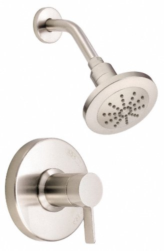 (Danze D520530BNT Amalfi Single Handle Shower Trim Kit, 2.5 GPM, Valve Not Included, Brushed Nickel)