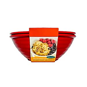 Nordic Ware Microwave Everyday Bowls (Set of 2) Color Red