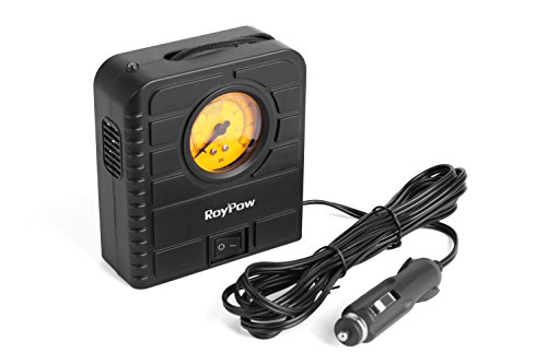 Roypow I80 12v Car Auto Electric Air Compressor & Portable Tire Inflator & Pump Tool for Motorcycle, Bicycle, Balls and Air Cushion Inflation