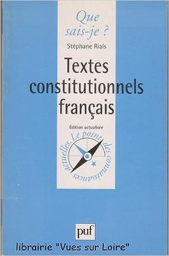 En ligne Textes constitutionnels français pdf epub