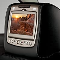 GM # 23309578 RSE - Head Restraint DVD System, Dual Monitors, Jet Black Vinyl with Gray Stitching GENUINE GM ACCESSORIES