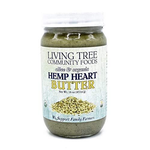 Living Tree Organic Raw Hemp Heart Butter | No Added Sugar, Gluten-Free, Seed Butter - 16 Ounce Jar