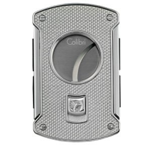 Polished Silver Colibri Lighter (Colibri Slice Cutter Silver Carbon Fiber Polished Chrome Lighter - Colibri KNF000711 by Colibri)