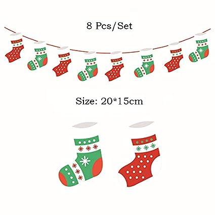 Amazon.com: VietHandmade - Banderines de Navidad con diseño ...