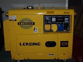 FoxHunter Leading LDE6800T 5 0kva 5 kva Electric Start