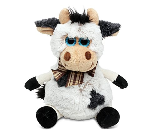 Cuddly Soft Cow (Puzzled Sitting Cow Super Soft Stuffed Plush Cuddly Animal Toy - Animals Collection - 7