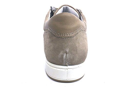 7725 TORTORA Scarpa uomo sneaker soletta memory foam Igi&co pelle made in Italy