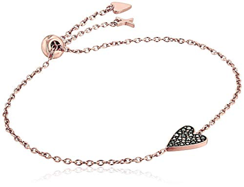 Fossil Women's Heart Rose Gold-Tone Stainless Steel Bracelet -