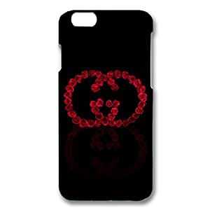Bling Gucci Luxury Logo Black Background Customized Thin Durrable Plastic 3D Case Cover L6M132 For Iphone 6