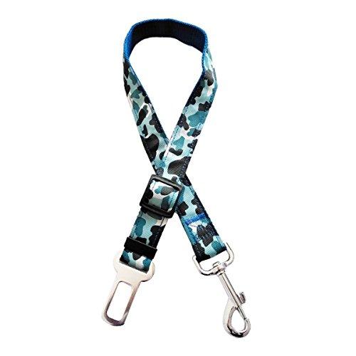 Adjustable Dog Car Safety Seat Belt Harness (Blue) - 7