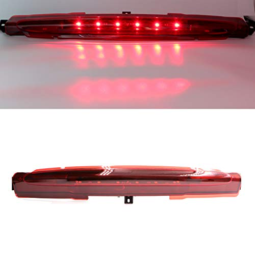 High Mount LED Third 3rd Brake Light, CHMSL Center Stop Tail Lamp for 2002-2009 Chevy GMC Buick (Red) (Tail Light Chevy Trailblazer)