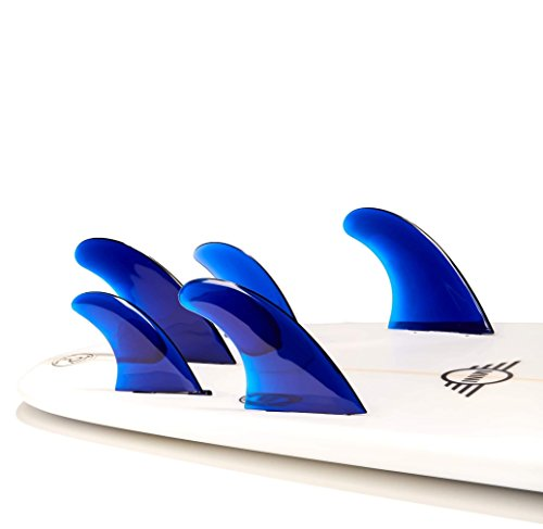 Dorsal Performance Flexrez Surfboard Thruster/Quad Surf Fins (5) FCS Compatible Blue by Dorsal