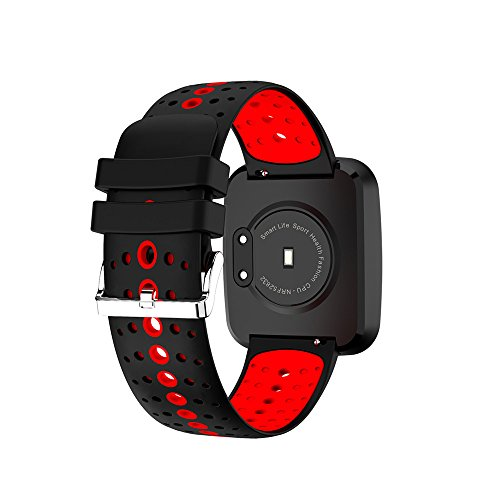 Fitness Tracker with Heart Rate Monitor,Smart Bracelet Blood Oxygen Pressure Monitor Sport Watch for IOS Android Smartphones(Red) by KingTo (Image #9)